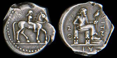 Lot 202: Drachm, Aitna, Sicila, 476-470 BC.