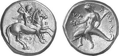 Tarent, Stater, 325-281. Fischer-Bossert 925. Aus Auktion Gorny & Mosch 118 (2002), 1096.