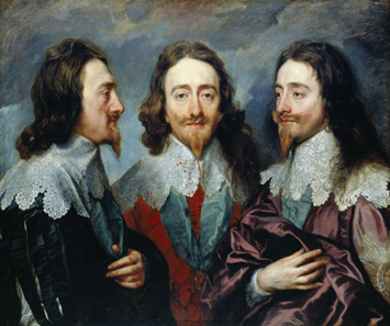 Charles I of England, painting by Anthony Van Dyck around 1635.