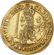 Charles I. Triple Unit 1644, Oxford. Sehr selten. Fast vorzüglich. Schätzung: 50.000,- Euro. Aus Auktion Künker 310 (21. Juni 2018), Nr. 6144.