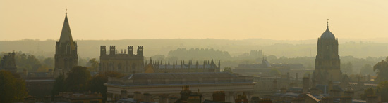 Above the roofs of Oxford. Photo by David Iliff. Liscence: CC-BY-SA 3.0.