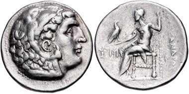Lot 133: Kings of Macedon. Antigonos II Gonatas (277/6-239 BC; in the name and types of Alexander III). Tetradrachm, circa 277/6-275 BC, Amphipolis mint. VF. From the Colin E. Pitchfork Collection. Estimate: $200.