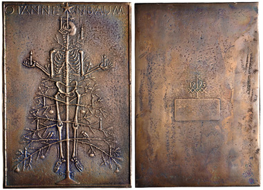 Lot 696: Germany, Köln (Stadt). Cast bronze plaquette (111x165mm, 467.20 g, 12h). Dated 1995. As made. From the HJR Collection. Estimate: $100.