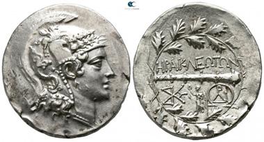 Lot 157: Ionia. Herakleia ad Latmon. Tetradrachm, circa 140-135 BC. Extremely fine.