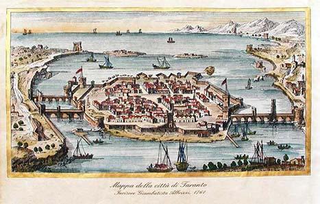 Tarent im 16. Jahrhundert. Quelle: Wikipedia.