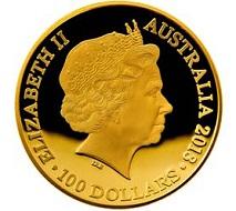 Most beautiful gold coin: Australia.