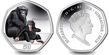 Gibraltar / 50 pence / Cupro Nickel Diamond Finish / 8g / 27,3mm / Mintage: 7,500.