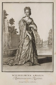 Wilhelmine Amalia. Copperplate engraving from 1703.