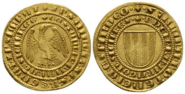 Lot 677: Messina. Constance of Hohenstaufen and Peter of Aragona, 1282-1285. Pierreale, 1282-1285. Rare, Extremely Fine. Starting bid: 1,750 GBP.