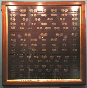 Framed electrotypes as exhibited in The Science Museum. Photo: Henry Flynn.