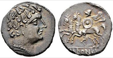 Lot 130: Ikalesken. Denarius. Second half 2nd c. BC. Extremely fine+ or even better. Starting bid: 450 euros.