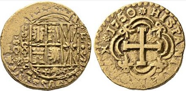 Lot 790: Fernando VI. New Reign. 8 escudos. 1750 over 49. Very fine+. Starting bid: 7,000 euros.