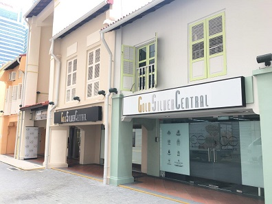 Degussa's new partner GoldSilver Central owns a beautiful store on Pickering Street in downtown Singapore. © GoldSilver Central