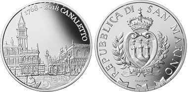 San Marino / 5 Euros / silver .925 / 18g / 32mm / Mintage: 3,400.