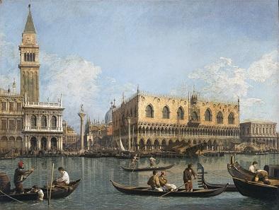 Canaletto, Piazzetta and Riva degli Schiavoni, Venice. Between 1730 and 1740.