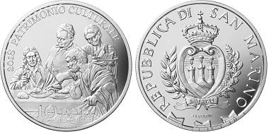 San Marino / 10 Euros / silver .925 / 22.4g / 34mm / Mintage: 3,400.