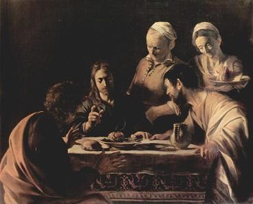 "Caravaggio's ""Supper at Emmaus""."