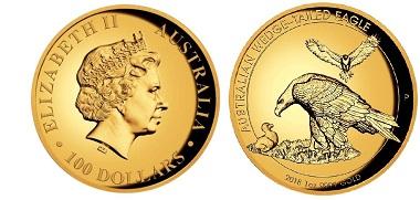 Australia / 100 AUD /.9999 gold / 31.107g / 27.3mm / Mintage: 500.