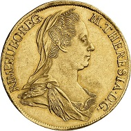 No. 6292. Holy Roman Empire. Maria Theresa, 1740-1780. 4 ducats 1779, Alba Iulia. Extremely rare. Nearly extremely fine. Estimate: 50,000 euros. Price realized: 65,000 euros.