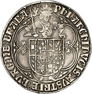 No. 174: Brabant. Philip the Handsome, 1482-1506. Fifth emission, 1489-1492. Quadruple patard 1489, Antwerp, featuring the title of Maximilian I. Very rare. Very fine. Estimate: 3,000 euros. Price realized: 15,000 euros.