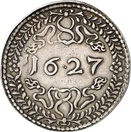 No. 1186. Poland. Sigismund III, 1587-1632. Reichstaler 1627, Bromberg. Very rare. Very fine. Estimate: 35,000 euros. Price realized: 44,000 euros.