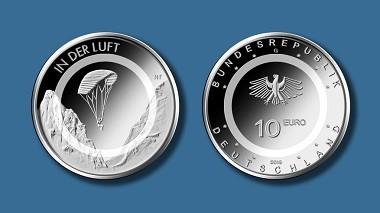"""So wird Deutschlands neue 10-Euro-Münze """"In der Luft"""" aussehen. Quelle: Bundesverwaltungsamt."""