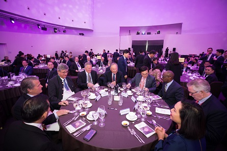 Informal discussions during a dinner are an essential component of the MDC. Photo: MDC 2018.