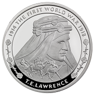 Great Britain / 5 GBP / .925 silver / 28.28 g / 38.61 mm / Design: David Cornell / Mintage: 1,918.