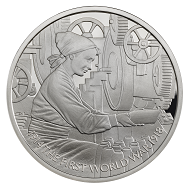 Great Britain / 5 GBP / .925 silver / 28.28 g / 38.61 mm / Design: David Lawrence / Mintage: 1,918.