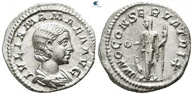 Julia Mamaea. Denarius, AD 225-235, Rome. very fine.