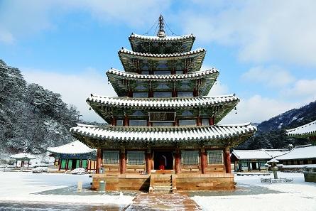 Beopjusa-Tempel in Korea. Halle der Acht Bilder. Foto: CIBM. © CIBM.