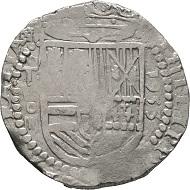 """Spanisches 4 Reales Stück aus Toledo, 1593. Fehlprägung """"1953"""" statt"""