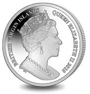 British Virgin Islands / 1 Dollar / Uncirculated Cupro Nickel / 28.28 g / 38.60 mm / Mintage: 10,000.