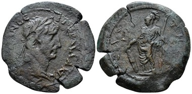 Lot 384: Trajan, 98-117. Drachm, circa 110-111 (year 14), Egypt, Saite. From the Dattari Collection. Apparently unique. Good Very Fine. Starting bid: 500 GBP.