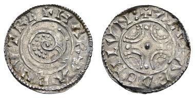 Los 576: Dänemark. Knud der Große, 1016-1035. Pfennig. Minimal gewellt, ansonsten vz-. Ausruf: 450 Euro Zuschlag: 840 Euro.