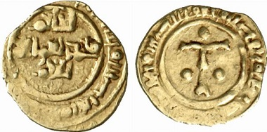 Roger I. Tari d'oro, o. J., Messina. From auction Künker 137 (2008), no. 3787.