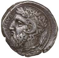 Kyrenaika (Barke). Tetradrachme, ca. 435-308 v. Chr. KHM / Wien.