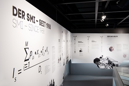 The history of the SMI explained. Photo: Swiss Finance Museum.