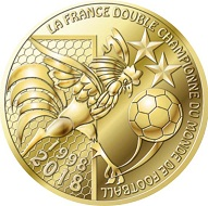 The new mini medal on the second FIFA Worl Cup title for France.