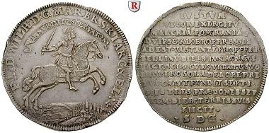 Altdeutschland. Brandenburg-Preußen. Friedrich Wilhelm. Reichstaler 1675, f. vz. 3.250. Euro.