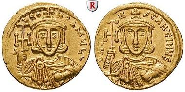 Byzanz. Constantinus V. Copronymus. Solidus, 742-745. vz-st/vz. 1.250 Euro.