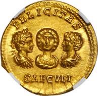 Lot 20123: Septimius Severus, A.D. 193-211. Aureus, ca. A.D. 202, Rome Mint. Estimate: US$100,000-120,000.