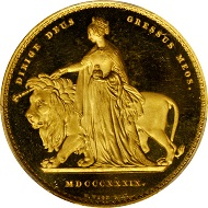 """Lot 21116:  """"Una and the Lion"""" 5 Pound. Part of an"""