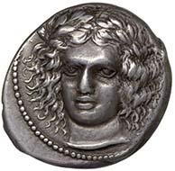 Sizilien (Katania). Tetradrachme, ca. 415-404 v. Chr. KHM / Wien.