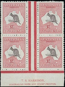 Lot 586 of the Australian Stamp Collection sold for £60,000 Source: Spink & Son.