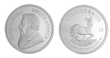 Die neue Krügerrand-Münze in .999 Silber.
