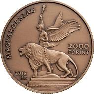 Hungary / 2,000 Forint / Cupro-Zinc / 18.4 g / 37 mm / Design: Márta Csikai / Mintage: 5.000.