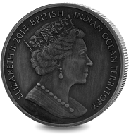 British Indian Ocean Territory / 4 GBP / silver .999 / 62.21 g / 50.00 mm / Mintage: 650.