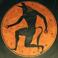 The Minotaur as depicted on an Attic kylix. / Photo: Marie-Lan Nguyen / CC BY 2.5.