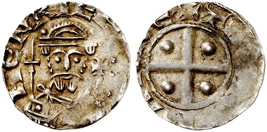 Henry IV, pfennig, Dortmund. From the Künker auction 292 (2017), no. 6413.